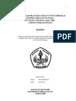 Skripsi Analisis Laporan Keuangan Untuk Menilai Kinerja Keuangan Pada Bank