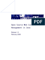 Open Source Web Content Management in Java
