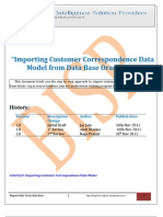Importing Customer Correspondence Data Model