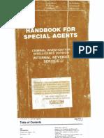 Irs Secret Cid Handbook Part 1 Book