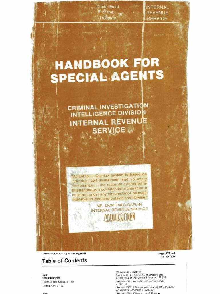 Irs secret cid handbook part 1 book search and seizure summons falaconquin
