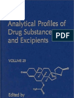 Analytical Profiles of Drug Substances and Excipients Volume 29
