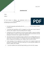App Letter Format
