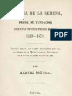 Crónica de La Serena desde su fundación hasta nuestros días, 1549-1870.  (1871)