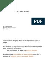 Principles of Microeconomics - Labor Market