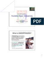 07 Fdn Repairs - Underpinning