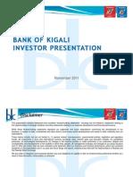 BOK Investor Presentation Year to September 2011