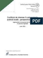 Raport Confer Int A Conflict de Interese Sinaia 2003