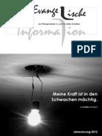 Evangelische Information Dezember 2011
