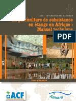 ACF 2010 La Pisciculture de subsistance en étangs en Afrique