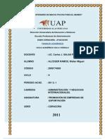 Trabajo Promocion de Empresas de Exportacion 2012