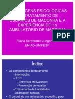 ABORDAGENS PSICOLÓGICAS NO TRATAMENTO DE USUÁRIOS DE MACONHA