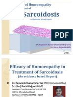 Efficacy of Homoeopathy in Sarcoidosis