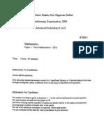 MS QE 2001 PAPER 1