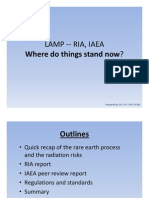 Lynas, RIA, IAEA - Where Do Things Stand Now 24 July 2011