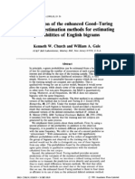 1991 GoodTuringSmoothing-A Comparison of the Enhanced Good-Turing and Deleted Estimation Methods for Estimating Probabilities of English Bigrams