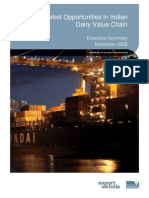 Market Opportunities in Indian Diary Value Chain Executive Summary
