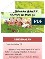Penggunaan Bahan-bahan 2d Dan 3d