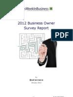 2012 UK SME Business Owner Survey Report