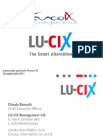 LU-CIX - AG France IX Septembre 2011