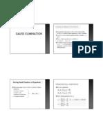 Gauss Elimination Handout