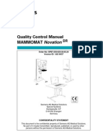 Siemens MAMMOMAT Novation DR Quality Control Manual