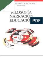 filosofia narracion educacion
