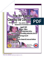 Reproductive Health Bill (RH Bill)