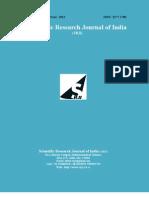 Scientific Research Journal of India SRJI Vol-1 No-1 Year 2012