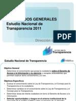 Estudio Nacional de Transparencia 2011