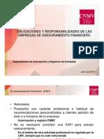 CNMV Obligaciones de Las EAFI