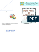 Plano Anual de Actividades_08!09!1ºciclo