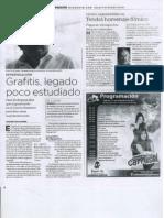 Elías Rodríguez Vázquez propone revalorar el arte del grafiti. Investigacion. Grafitis legado poco estudiado. Periodico Noroeste, Culiacàn, Sinaloa, Mèxico. 31 diciembre 2011.