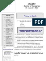 synthèse CE 16 décembre 2011