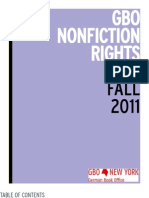 Nonfiction Rights List Fall 2011