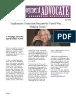 Employment Advocate Newesletter October 2011