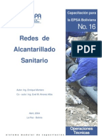 Redes de Alcantarillado Sanitario - Ing. Enrique Montero Bolivia 2004