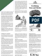Fertilizing Trees and Shrubs FAQ