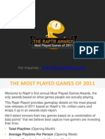 Raptr Report the Most Played Games of 2011