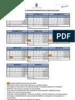 calendario sesiones informativas