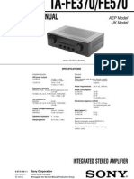 TA-FE370/FE570 Service Manual
