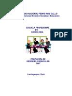 PropuestaCurricular Sociologia 2007
