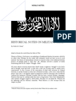 Historical Notes on Militant Jihads