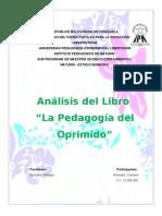 Analisis Del Libro Pedagogia de Los Oprimidos