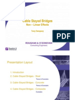 Cable Stayed Bridges Non Linear Effects