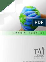 Financial Report 2007 - Taj Pharmaceuticals Group