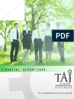Financial Report 2008 - Taj Pharmaceuticals Group