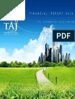 Financial Report 2010 - Taj Pharmaceuticals Group