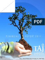 Financial Report 2011 - Taj Pharmaceuticals Group