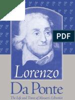DA PONTE the Life and Times of Mozart